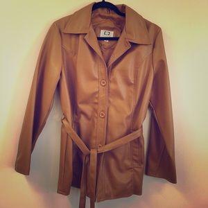 Vintage Ambassador Brown Faux Leather Jacket Large